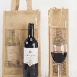 Jutetasche – Jute Wein Bag