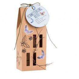 Schmetterlingshotel aus Pappe