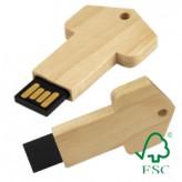 USB-Stick Woody Key – aus FSC-Zertifiziertem Holz