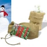 Weihnachts-Jutesäckchen