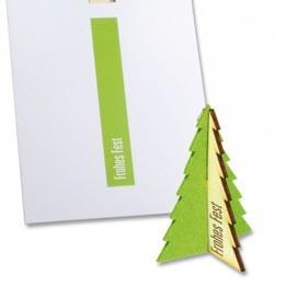 Steckfiguren Karte Filz Baum