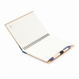 Eco Notizbuch mit PLA Kugelschreiber