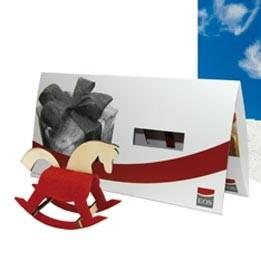 Steckfiguren Karte Filz Schaukelpferd