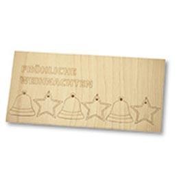 Weihnachtskarte Holzanhänger